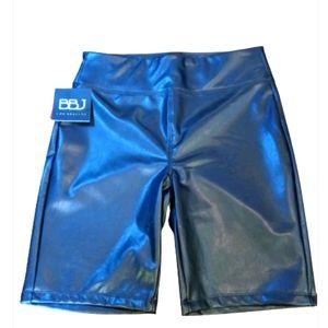 Boom boom jeans LA leather faux biker shorts